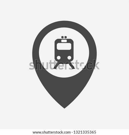 subway train in location marker