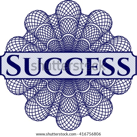 Success abstract linear rosette