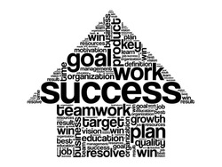 Success Arrow Words Cloud, business vector concept
