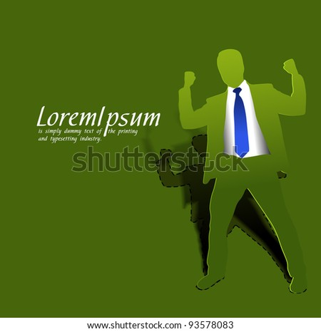 success business man, conceptual business vector illustration.