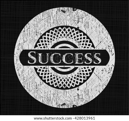 Success chalk emblem