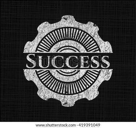 Success chalk emblem written on a blackboard