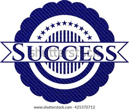Success denim background