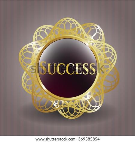 Success gold shiny emblem