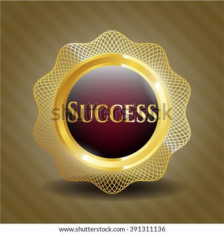 Success golden emblem
