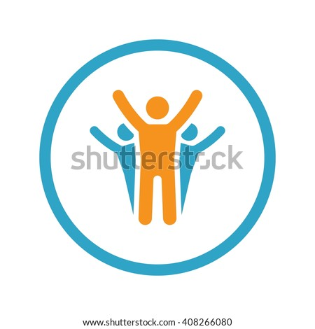 Success Icon. Business Concept. Flat Design with Long Shadow