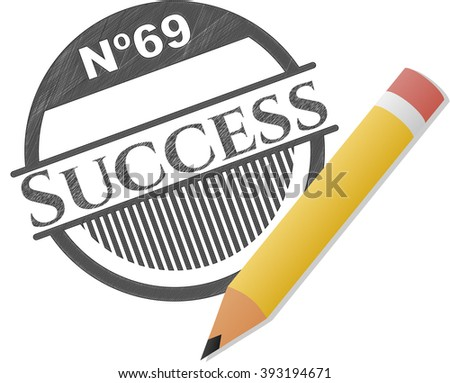 Success pencil draw