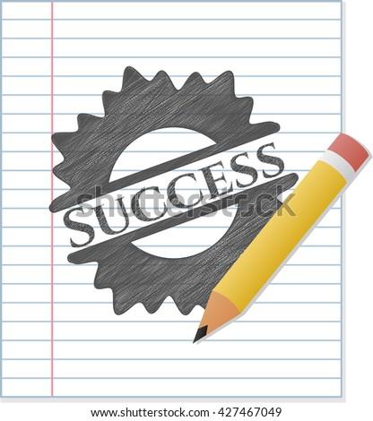 Success pencil emblem