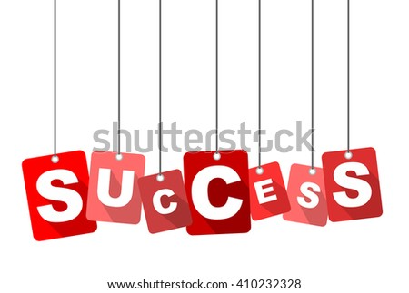 success  red vector success