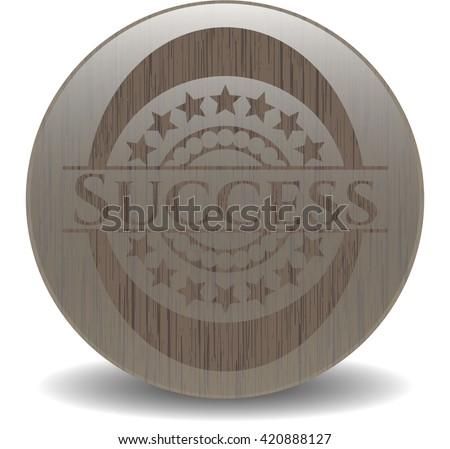 Success retro wood emblem