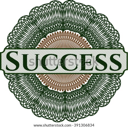 Success rosette or money style emblem