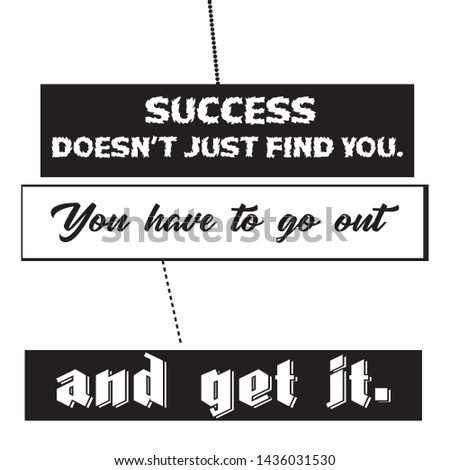 Success Typography & Motivational Quote T-shirt and apparels print graphic - Vector