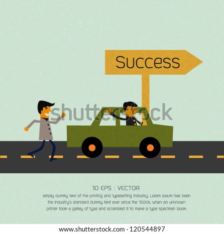 Success vector background