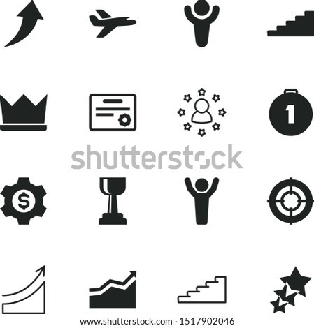 success vector icon set such as