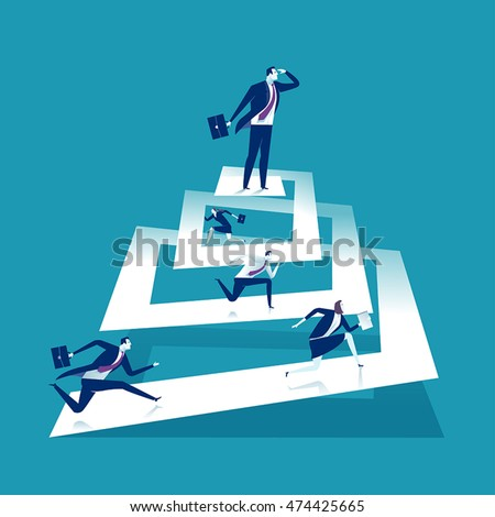 Success. Way up. Business vector illustration