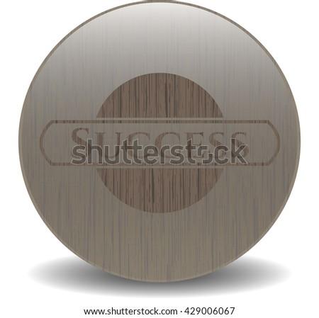 Success wood signboards
