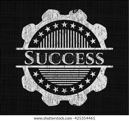 Success written on a chalkboard