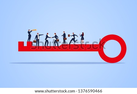 Successful business group, the key to success, successful cooperation