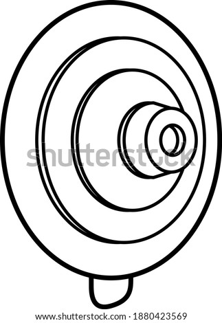 Suction cup icon , vector illustration Foto stock ©