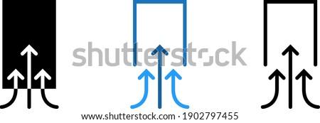 Suction icon , vector illustration Foto stock ©