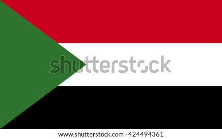 Sudan flag. Illustration of Sudan flag vector in flat style for web and digital
