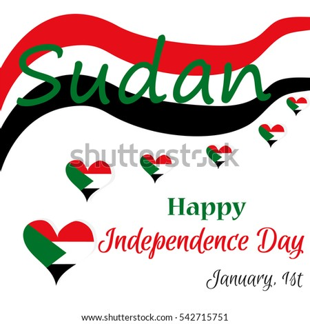 Sudan independence day poster  #542715751