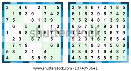 Vector Set Of Sudoku Game - Download Free Vectors, Clipart