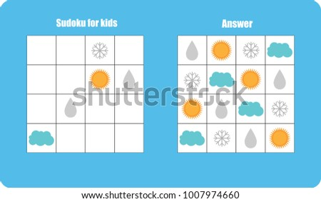 sudoku game with pictures  sun