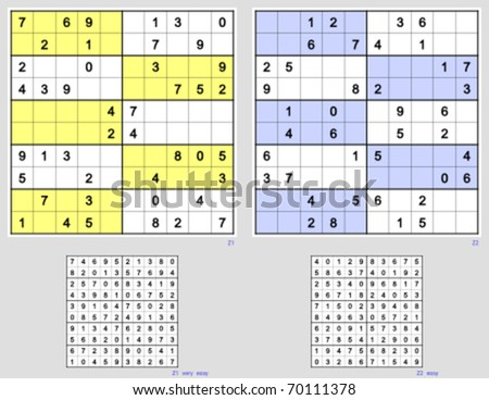 Sudoku with the 10x10 grid. Full symmetry. Very easy and easy. 44, 40 clues.
