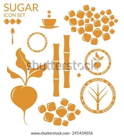 Sugar. Set. Eps10 vector