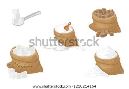 sugar set vector
