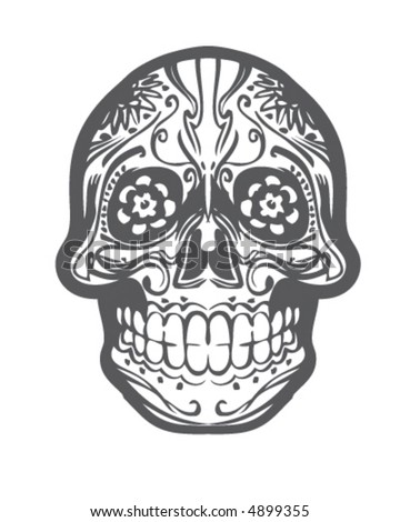 stock vector : Sugar Skull