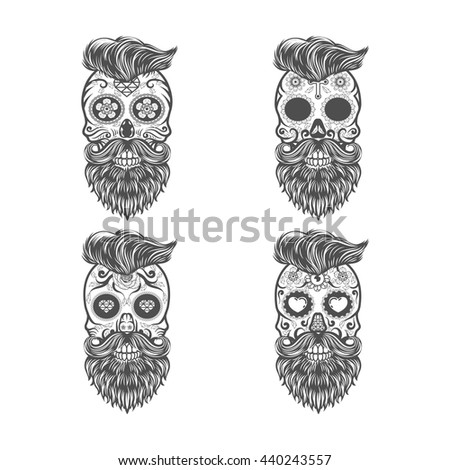sugar skull beards