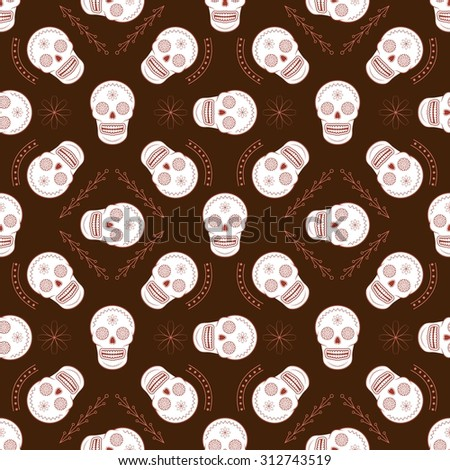 sugar skull vector seamless