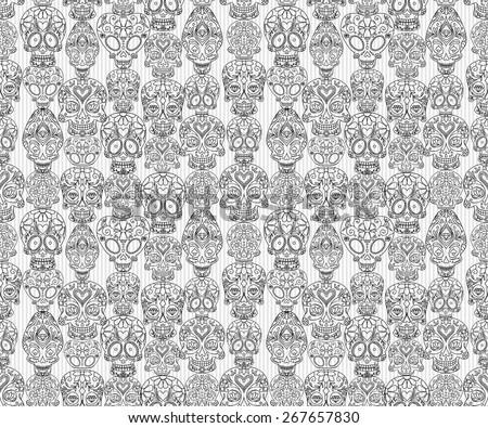 sugar skulls decorative