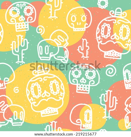 sugar skulls seamless vector