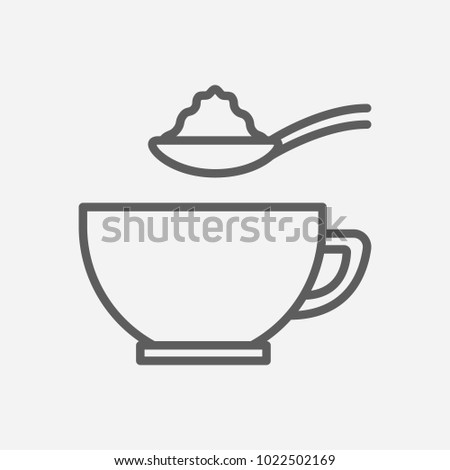 Sugar spoon icon line symbol. Isolated vector illustration of  icon sign concept for your web site mobile app logo UI design.