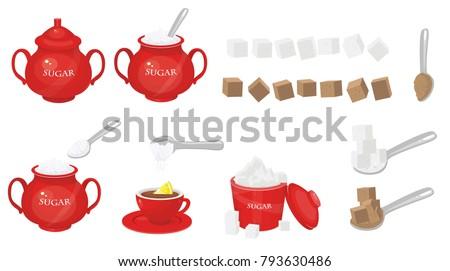 sugar vector illustration
