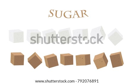 sugar  white  illustration