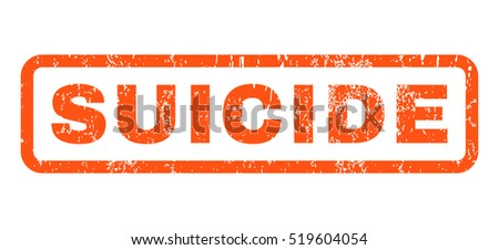 suicide text rubber seal stamp