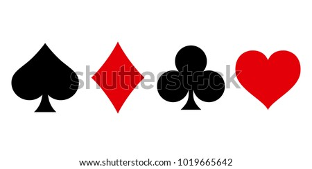 suit deck of playing cards on