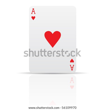 Suit diamonds card isolated on white