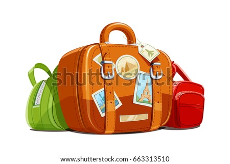 suitcase and bag for travel...