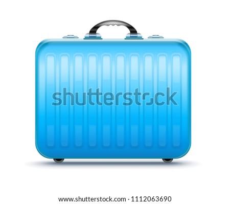 Suitcase for travel, icon isolated white background. EPS10.