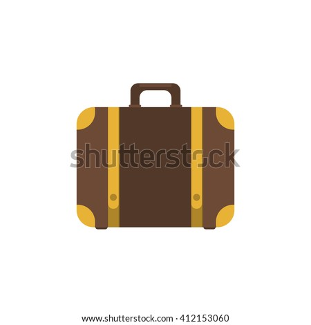Suitcase icon.Flat design style modern illustration.Suitcase vector illustration.Suitcase isolated on a white background.Suitcases travel.Illustration for travel, holidays, trips. Suitcases vacation.