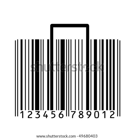 bar code logo. stylized with ar-code