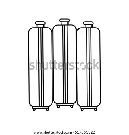 suitcase travel isolated icon #617551322