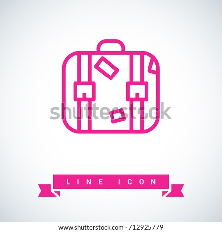 Suitcase travel line vector icon