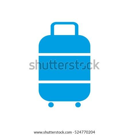 suitcase, travel, luggage, vector icon, eps10
