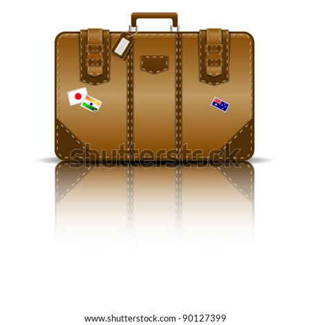 suitcase vector - stock vector